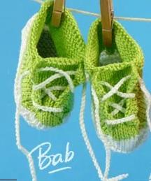 Chaussons bébé : les baskets