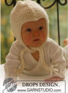 bonnet bébé noué