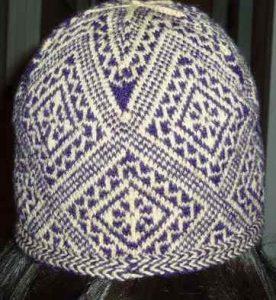 Tricoter un bonnet rond : jacquard