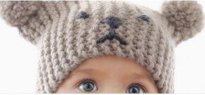 Tricoter un bonnet bébé façon ourson
