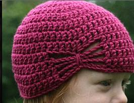 Tricoter bonnets enfants : bonnet fillette crochet