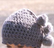 tricoter un bonnet : fantaisie pompon