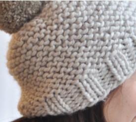pull rapide à tricoter avec pompon