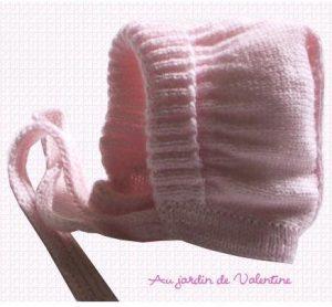 tricoter un bonnet bébé fille