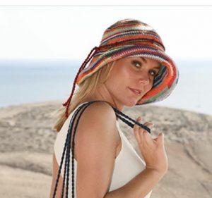 chapeau d'été au crochet et son sac