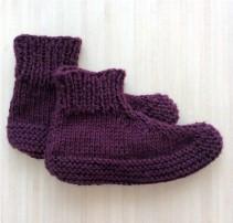 tricoter des chaussons adultes montants