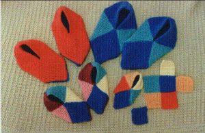 Chaussons carrés pour adultes et enfants