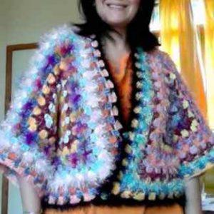 blouson crochet