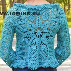 tricoter un boléro au crochet et dentelles