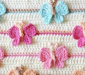 Papillons au crochet