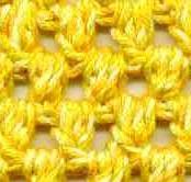 tricoter un point mouchet au crochet