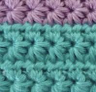 Points tricot u crochet : le point étoile