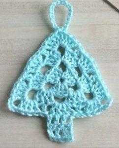 tricoter un sapin en déco de Noël