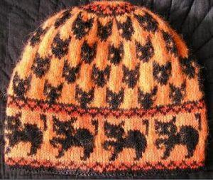 tricoter un bonnet motif halloween
