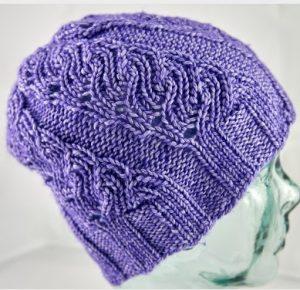 tricoter un bonnet à torsades tourbillons