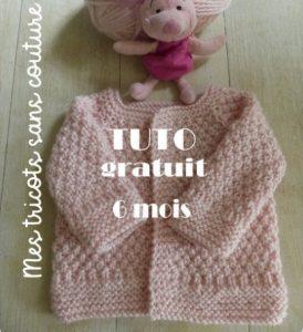 tricoter une brassière bébé au point de blé