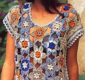 art du tricot : débardeur crochet
