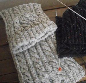 tricoter des écharpes à motifs irlandais