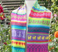 tricoter une écharpe jacquard femme