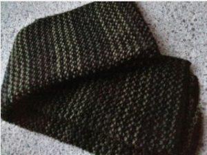 Tricoter une écharpe homme