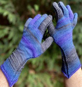 gants aux aiguilles tricot rond