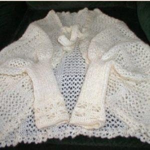 tricoter une liseuse en dentelles