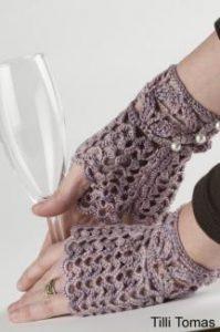 mitaines tricot gratuit crochet dentelle