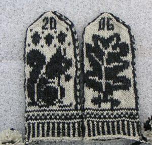 tricoter des mitaines jacquard