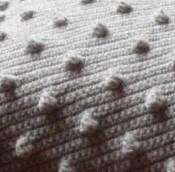 couverture crochet point noisettes