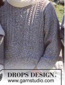 Modèles gratuits de pulls homme au tricot : torsades et fantaisie