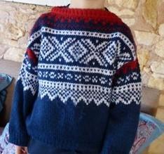 tricoter des pulls enfant à motifs norvégien