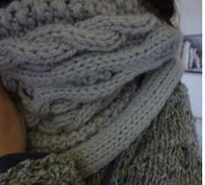 tricoter des snoods avec torsades