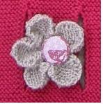 Tricoter une fleur avec 5 pétales