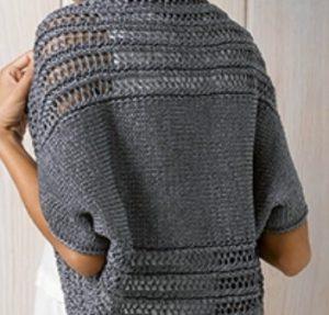 tricoter un boléro au point ajouré
