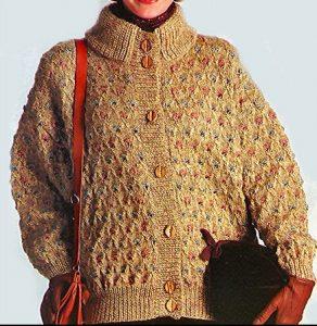 tricoter une veste aiguilles et en couleurs