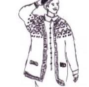 Tricoter une veste femme : avec nopes
