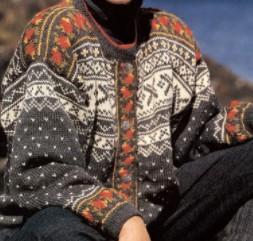 tricoter une veste adulte : tricot jacquard