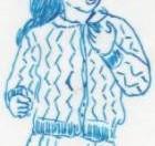 tricoter une veste enfant : modèle fillette zigzag ajouré