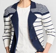 Tricoter une veste adulte femme : la marine