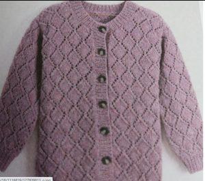 tricoter une veste aux points ajourés