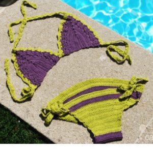 Tricoter un bikini bicolore