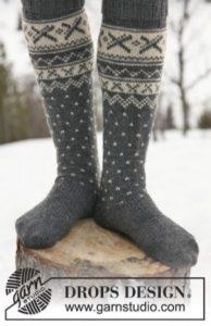tricter veste et chaussettes en jacquard nordique