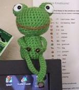 Tricoter une grenouille